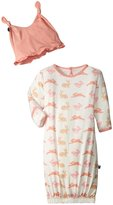 Kickee Pants Layette Gown & Knot Hat (Baby) - Girl Natural Hare - New Born