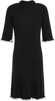 See by Chloe Metallic-trimmed Wool Mini Dress