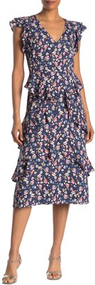 Rachel Roy Fabianne Floral Ruffle Midi Dress (Regular & Plus Size)