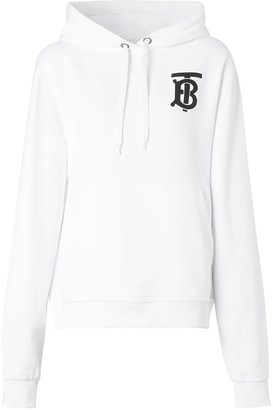 Burberry Monogram Motif Hooded Sweatshirt