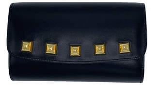 Hermes Black Leather Vintage Medor Clutch Bag
