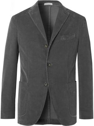 Boglioli Grey K-Jacket Slim-Fit Unstructured Stretch-Cotton Corduroy Suit Jacket