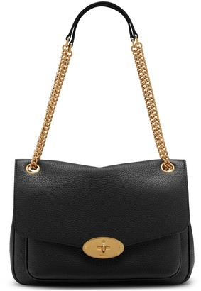 Mulberry Darley Shoulder Bag Black Heavy Grain
