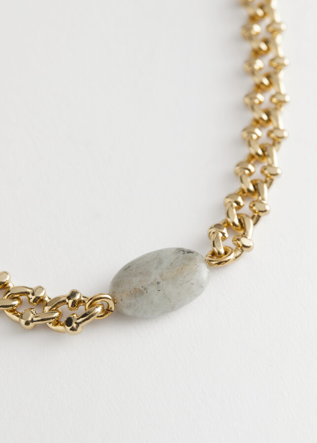 Thumbnail for your product : And other stories Stone Pendant Chain Necklace