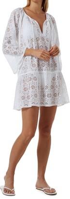 Melissa Odabash Corina Cotton Eyelet Cover-Up Dress