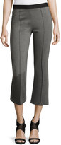 BCBGMAXAZRIA Stretch-Knit Cropped Pants, Heather Gray