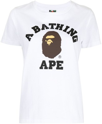 A Bathing Ape logo print T-shirt