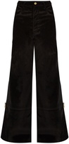 Wales Bonner Isaac high-waisted flared velvet trousers
