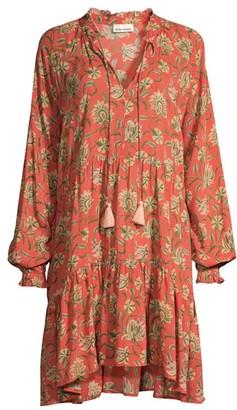 Roller Rabbit Vine Floral Fringe Tunic Dress
