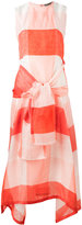 Sportmax checked tie-fastening dress - women - Silk/Cotton/Linen/Flax - 36
