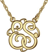 JCPenney FINE JEWELRY Personalized 15mm Round Cutout Monogram Necklace