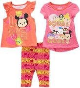 Children's Apparel Network Disney Tsum Tsum Pink 'Squad Goals' Tee Set - Toddler & Girls