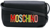 Moschino logo plaque shoulder bag - women - Leather/metal - One Size