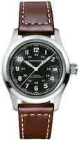 Hamilton Khaki Field Leather Strap Round Automatic Watch