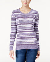 Karen Scott Striped Marled Sweater, Only at Macy's