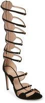 Giambattista Valli Black Strappy High Heel Gladiator Sandals