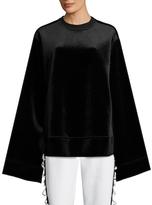 Velvet Kimono Crewneck Sweatshirt