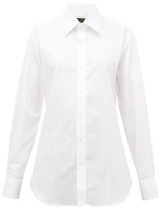 Emma Willis Surfina Cotton Diamond-pique Shirt - White