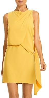 Halston Asymmetrical Draped Dress