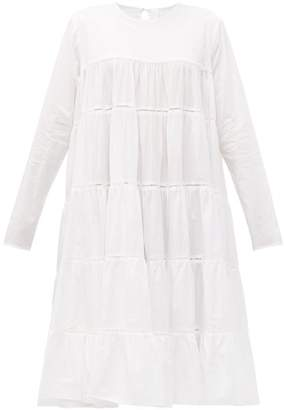 Merlette New York Essaouira Tiered Cotton Midi Dress - Womens - White