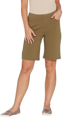 Denim & Co. Comfy Knit Smooth Waist Pull-On 5-Pocket Shorts