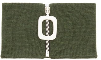 J.W.Anderson Merino Wool Neckband - Khaki