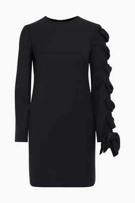 Valentino Bow-embellished Wool-cady Mini Dress