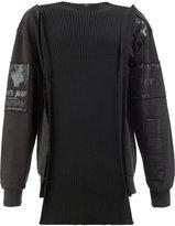 Yang Li layered patchwork sweatshirt