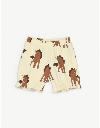 Mini Rodini Unicorn-print organic stretch-cotton bloomers 1-18 months