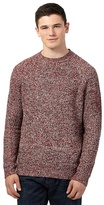 Red Herring Red Rib Crew Neck Jumper