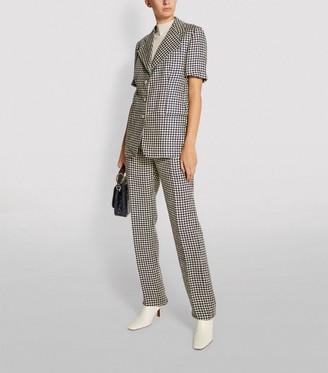 Giuliva Heritage Collection Linen Houndstooth Blazer