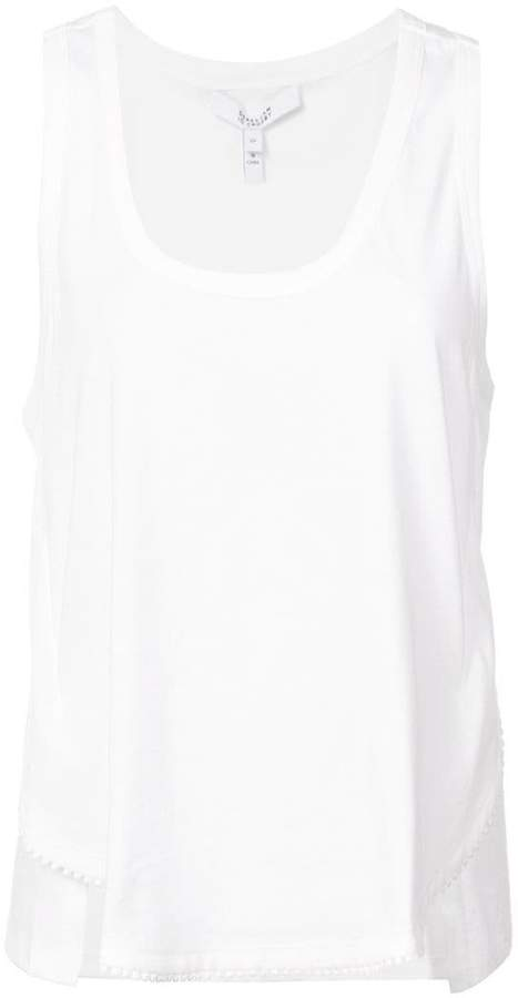 Derek Lam 10 Crosby Tank With Lace Trim
