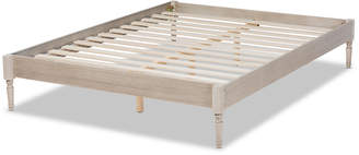 Baxton Studios Colette Antique Oak Full Size Platform Bed Frame