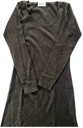 Brora Brown Cashmere Dress for Women