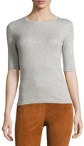 Theory Santea Forli Rib Top, Heather Gray