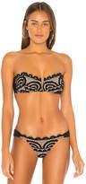 Pilyq V Lace Bandeau Bikini Top
