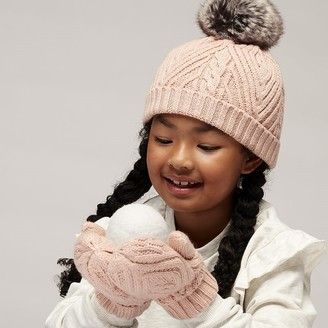 Wonder Co. Lined Ribbed Mittens Pink