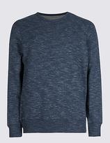 M&S Collection Cotton Rich Textured Sweatshirt