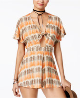 American Rag Printed Tie-Front Romper, Created for Macy's