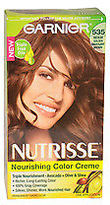 Garnier Nutrisse Nourishing Color Creme # 535 Medium Golden Mahogany Brown Hair