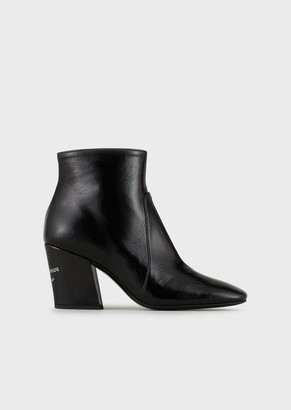 Emporio Armani Naplak High-Heeled Ankle Boots