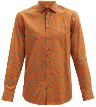 Etro Paisley-print Cotton-poplin Shirt - Orange Multi