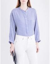 Closed Striped cotton-blend blouse