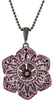 MCL by Matthew Campbell Laurenza Sapphire, Amethyst & Enamel Lotus Pendant Necklace