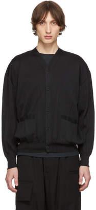 Issey Miyake Black Wrinkle Knit Cardigan