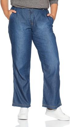 Ulla Popken Women's Marlenehose Optik Flared Jeans