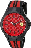 Ferrari 840009 Pit Crew Analog Display Quartz Black Watch