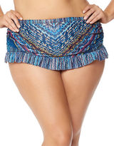 Jessica Simpson Plus Plus Dusty Road Skirted Bikini Bottom