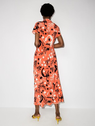 Rixo Pepper short-sleeve midi dress