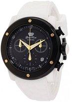 Glam Rock Women's GR50115 Aqua Rock Chronograph Black Dial White Silicone Watch